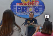 """""""I assure the people of Western Visayas that we are on target in our campaign against illegal drugs,"""" says Police Brigadier General Rene Pamuspusan, Region 6 police director. IAN PAUL CORDERO/PN"""