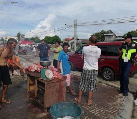 Task Force Botagoy, headed by Edward Martin Pinaga, confiscated about 63 kilograms of illegally slaughtered pork meat at Purok Riverside and Purok Tinagong Paraiso, both of Barangay Banago, last Nov. 1. TFB