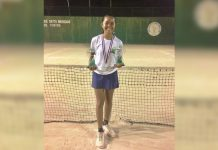 Althea Rose Martirez is the Most Valuable Player in the girls singles event of the Palawan Pawnshop National Age Group Tennis Tournament – Roxas City leg. PHOTO COURTESY OF ADVEN SANTIAGO