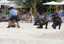 Security teams conducted a simulated kidnapping raid on Boracay Island, Malay, Aklan. BORACAY TOURIST ASSISTANCE CENTRE