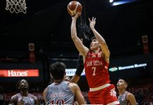 Calvin Oftana of the San Beda University Red Lions has 51.56 PAV (player's average value) in the NCAA Season 95 men's seniors basketball. ABS CBN SPORTS PHOTO