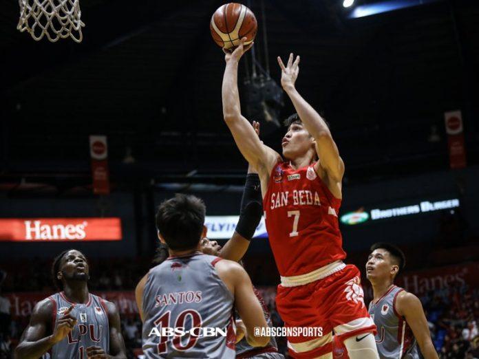 Calvin Oftana of the San Beda University Red Lions has 51.56 PAV (player's average value) in the NCAA Season 95 men's seniors basketball. ABS CBN SPORTS PHOTO