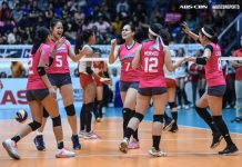 Creamline Cool Smashers celebrate their successful title retention bid in the Premier Volleyball League Season 3 Open Conference. ABS-CBN SPORTS PHOTO
