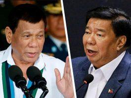 President Rodrigo Duterte and opposition senator Franklin Drilon