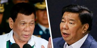 President Rodrigo Duterte and opposition senator Franklin Drilon