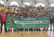 As the Visayas champion of the 34th SBP Passerelle Twin Tournament, Hercor College Junior Jaguars will see action in the national finals on Nov. 23 and 24 in Roxas City, Capiz. PHOTO COURTESY OF JEFFREY ABOOL