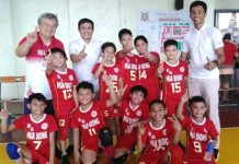 Hua Siong College of Iloilo Red Phoenix is the champion in elementary boys volleyball of the ILOPRISAA Meet. PHOTO COURTESY OF BAYANI LADRIDO