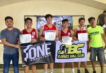 Hua Siong College of Iloilo Red Phoenix is the Asialink 3×3 basketball league U-15 champion. It finished the one-day tournament undefeated by winning all of its 12 matches. PHOTO COURTESY OF PHILIP DOCE PUNZALAN