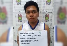 "The 22-year-old suspect Micheal Jhun Carbajosa of Barangay Botongon, Estancia, Iloilo was arrested after he allegedly exposed his ""private part"" in front of an Israeli national at the Bulabog Beach in Boracay Island, Malay, Aklan on Monday. NOEL CABOBOS/RADYOTODO/88.5FM/PN"
