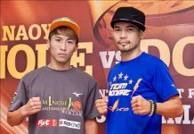 Japanese knockout artist Naoya Inoue (left) takes on Filipino boxer Nonito Donaire Jr. tonight in Saitama, Japan in a bantamweight unification world title fight.