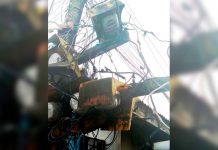 These dangling electricity meters of Panay Electric Co. in Iloilo City are in danger of falling. Mayor Jerry Treñas says the safety of the people of Iloilo City is paramount.