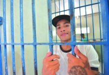 Grade 8 student Peter John Po is now behind bars. Police caught him in an entrapment operation in Barangay Purok 2 Poblacion, Pavia, Iloilo on Monday. IAN PAUL CORDERO/PN
