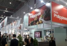 The Philippines' food pavilion at the second China International Import Expo being held at the National Exhibition and Convention Center in Shanghai from Nov. 5 to 10. Filipino food manufacturers are participating in China's biggest buying expo to seek opportunities in the world's largest market. PNA