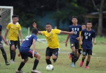 A Sagay City FC player controls the ball while being hounded by a CPU player. PHOTO COURTESY OF FIVE MINUTES OF ADDED TIME BLOG