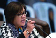 """""""Niloko mo ang mga tao na six months solve lahat ng problema. Ngayon hinahamon mo si VP Leni na gawin ang hindi mo nagawa?"""" says Sen. Leila de Lima in a statement on Thursday. ABS-CBN NEWS"""