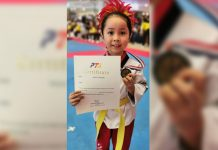 Viene Marie Dulaca is already a winner at five years old. She bagged a silver medal in the individual poomsae event.