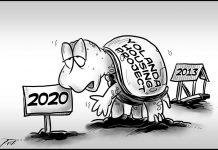 Editorial cartoon for November 22, 2019