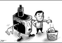 Editorial cartoon for November 3, 2019