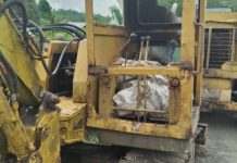 The heavy equipment burned down by suspected communist rebels in Barangay Luyang, Sibalom, Antique on Nov. 15. These construction equipment are still operational as these were only partially burned, according to the province's top cop Lieutenant Colonel Norby Escobar. SIBALOM MPS