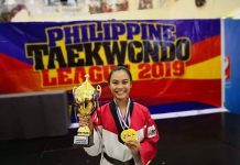 Kate Sheevanie Santocildes is the Most Valuable Player in the Region 6B Philippine Taekwondo League competition, junior women's category.