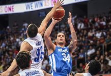 The Philippines' Christian Standhardinger attempts a one-hander. RAPPLER PHOTO