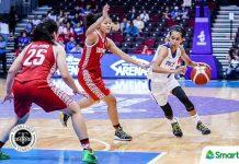 Gilas Pilipinas women's Janine Pontejos attacks the defense of Indonesian players. TIEBREAKER TIMES PHOTO