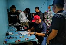 Hector Viva and Eman Jimena were nabbed in an entrapment operation in Barangay Vista Alegre, Bacolod City on Dec. 6. POLICE STATION 7/BCPO