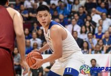 Isaac Go hopes to move to professional basketball after winning three consecutive UAAP championships with the Aeneo Blue Eagles. UAAP PHOTO