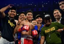 Jerwin Ancajas easily defended his IBF world super flyweight via a sixth-round stoppage win over Chile's Miguel Gonzales. GETTY IMAGES