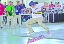 Cebuana skater Margielyn Didal, the reigning Asian Games champion in the street event, notches her first SEA Games gold medal in the women's Game of S.K.A.T.E event. ABS-CBN NEWS