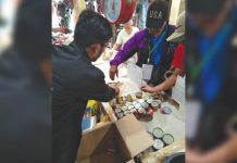 A team of the Negros Occidental Provincial African swine fever (ASF) Task Force checks the processed foods being sold in a local supermarket on Dec. 9. Some 43 establishments have been ordered to pull out from their shelves all pork products which originated from Luzon and identified ASF-affected countries. NEGROS OCCIDENTAL PROVINCIAL ASF TASK FORCE