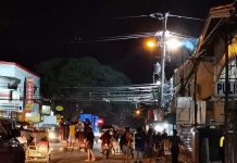 An electrical fire flares up at a post of Panay Electric Co. near the Mandurriao public market on Friday night. Just recently, the Energy Regulatory Commission ordered PECO to correct and explain its violations of the Power Distribution Code.