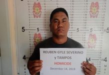 Reuben Gyle Severino was arrested in a shooting incident in Barangay Salvacion, Murcia, Negros Occidental on Dec. 14. MURCIA MUNICIPAL POLICE STATION