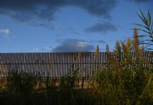 A section of border fence is pictured by the U.S.-Mexico border in the Rio Grande Valley near Hidalgo, Texas, United States on Oct. 7, 2019. REUTERS