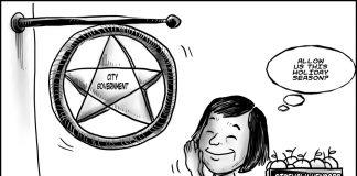 Editorial cartoon for December 6, 2019