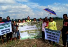The seven farmers installed by personnel of the Department of Agrarian Reform Negros Occidental-South on the 11.1 hectares of landholding in Barangay Payao, Binalbagan town on Jan. 15. DAR NEGROS OCCIDENTAL-SOUTH