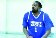 Former Gilas Pilipinas naturalized player Andray Blatche channels his old deadly form to carry Mighty Sports-Philippines against Al Ittihad. MIGHTY SPORTS