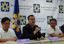 Department of Energy (DOE) officials said facilities of oil and power firms in Batangas are safe even the Alert Level 5 will be raised at Taal Volcano. In photo are: (from left) Oil Industry Management Bureau director Rino Abad, DOE undersecretary Felix William Fuentebella, and Electric Power Industry Management Bureau director Mario Marasigan, in a press briefing at DOE headquarters in Bonifacio Global City, Taguig City on Jan. 24, 2020. KRIS CRISMUNDO/PNA