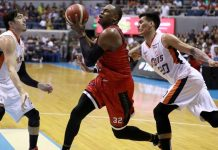 Barangay Ginebra San Miguel Kings and Justin Brownlee look to finish off Meralco Bolts off in Game 5 of the 2019 PBA Governors' Cup finals tonight at the SM Mall of Asia Arena in Pasay City. PBA PHOTO
