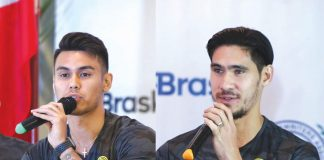 Ceres-Negros players' Joshua Grommen and Mark Hartmann. CERES NEGROS FC PHOTO