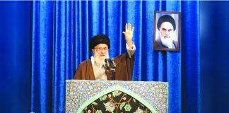 Iran's Supreme Leader Ayatollah Ali Khamenei gestures as he delivers Friday prayers sermon, in Tehran, Iran Jan. 17, 2020. OFFICIAL KHAMENEI WEBSITE/ REUTERS