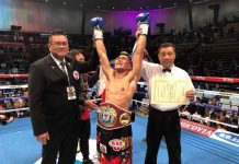 Jhunriel Ramonal wins the the WBO Asia Pacific super bantamweight championship in Japan. GAB PHOTO