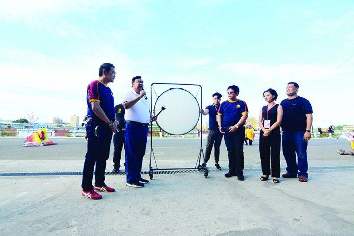 Iloilo City mayor Jerry Treñas leads the declaration of Dinagyang 360 Opening Salvo.