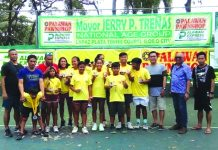 The winners of the recently concluded Palawan Pawnshop Mayor Jerry P. Treñas National Age Group Dinagyang Leg tennis tournament. RAFA SANTIAGO