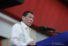 President Rodrigo Roa Duterte delivers a speech during the Annual General Membership Meeting of the Philippine Military Academy Alumni Association Inc. at the Philippine International Convention Center in Pasay City on January 21, 2020. ALFRED FRIAS/PRESIDENTIAL PHOTO