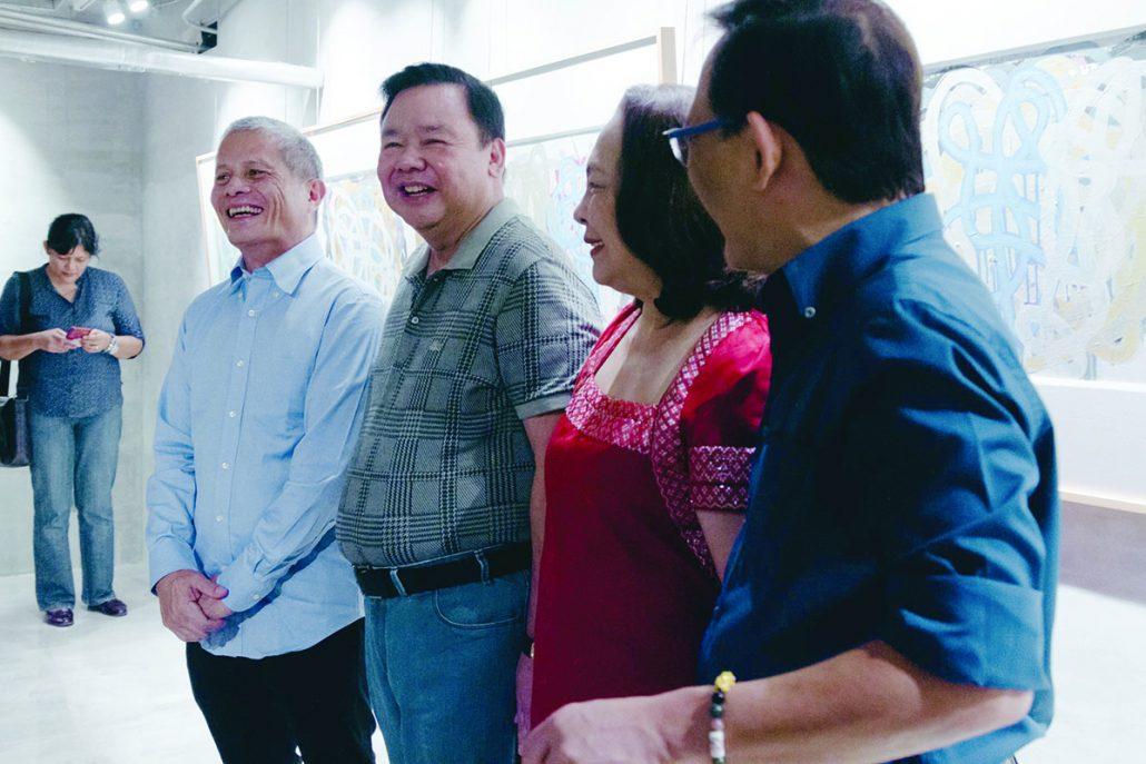 Rock Drilon is joined by Iloilo City mayor Jerry Treñas and Rosalie Treñas. PHOTO BY ERIC BARBOSA JR. / ATMOS.PH