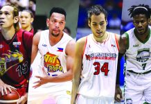 San Miguel's June Mar Fajardo, Talk N' Text's Jason Castro, NorthPort's Christian and Columbian Dyip's Jaymar Perez are the contenders of the PBA Season 44 MVP award. CNNPHILIPPINES PHOTO