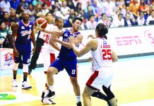 Baser Amer finally gets his game going for Meralco Bolts in Game 2 of the 2019 PBA Governors' Cup finals against Barangay Ginebra San Miguel Kings on Friday. PBA PHOTO