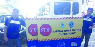 Roads in the towns of Altavas, Nabas and Buruanga have animal quarantine checkpoints in order to safeguard the people of Aklan from being infected of the African Swine Fever. OPV AKLAN
