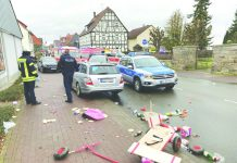 Police in the Germany town of Volkmarsen said it was too soon to say whether it was a deliberate act. AFP